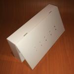 Caja con perforaciones
